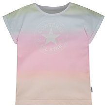 Buy Converse Girls' Ombre Boxy Cropped T-Shirt, Multi Online at johnlewis.com