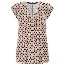 Buy Weekend MaxMara Bocca Jersey Top, Bordeaux Online at johnlewis.com