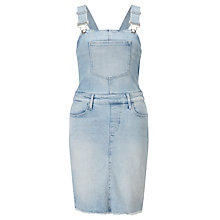 Buy Calvin Klein Denim Dungaree Dress, Coast Blue Online at johnlewis.com