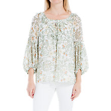 Buy Max Studio Ruffle Floral Print Long Sleeve Blouse, Multi Online at johnlewis.com