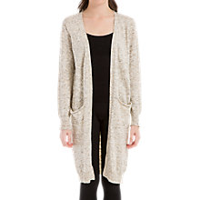 Buy Max Studio Long Knitted Cardigan, Oatmeal Online at johnlewis.com