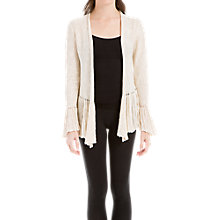 Buy Max Studio Ruffle Trim Cardigan, Natural Online at johnlewis.com
