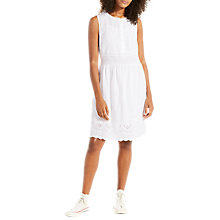 Buy Levi's Claudia Broderie Dress, Cornet White Online at johnlewis.com