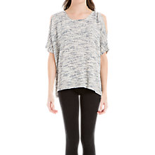 Buy Max Studio Cold Shoulder Space Dyed Jumper, Ivory/Blue Online at johnlewis.com
