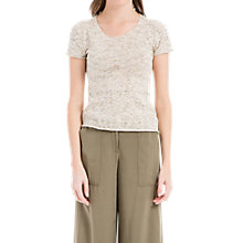 Buy Max Studio Short Sleeve Knitted Top, Oatmeal Online at johnlewis.com