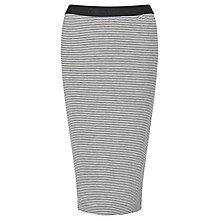 Buy Calvin Klein Kori Stripe Jersey Skirt, Light Grey Heather/Black Online at johnlewis.com