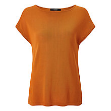 Buy Weekend MaxMara Panino Knitted Top, Orange Online at johnlewis.com