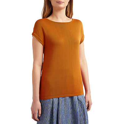1940s Blouses and Tops Weekend MaxMara Panino Knitted Top Orange £50.00 AT vintagedancer.com