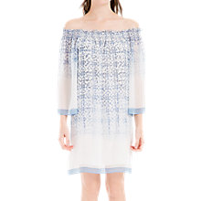 Buy Max Studio Cold Shoulder Printed Dress, Blue/White Online at johnlewis.com