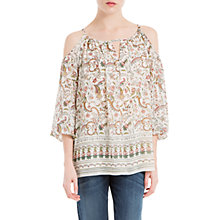 Buy Max Studio Cold Shoulder Printed Top, Multi Online at johnlewis.com
