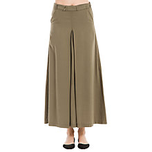 Buy Max Studio Pleated Maxi Skirt, Olive Online at johnlewis.com