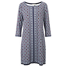 Buy Max Studio Printed Jersey Dress, Navy/Pink Online at johnlewis.com