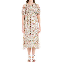 Buy Max Studio Cold Shoulder Floral Print Dress, Multi Online at johnlewis.com