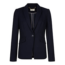 Buy Hobbs Gabi Jacket, Navy Online at johnlewis.com