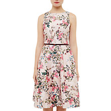 Buy Ted Baker Tie The Knot Clarbel Blossom Jacquard full dress, Mid Pink Online at johnlewis.com