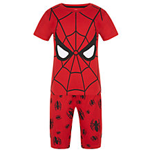 Buy Marvel Children's Spider-Man Shortie Pyjamas, Red Online at johnlewis.com