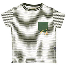 Buy Angel & Rocket Boys' Striped T-Shirt, Grey/Green Online at johnlewis.com