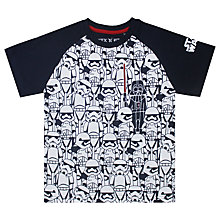 Buy Star Wars Boys' Storm Trooper T-Shirt, White/Blue Online at johnlewis.com