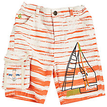 Buy Angel & Rocket Canvas Twill Boat Shorts, Orange Online at johnlewis.com