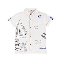 Buy Angel & Rocket Boys' Conversational Shirt, White/Blue Online at johnlewis.com