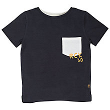 Buy Angel & Rocket Boys' Textured T-Shirt, Navy Online at johnlewis.com