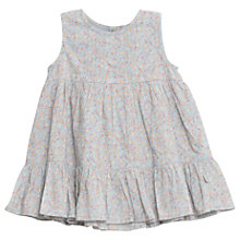 Buy Wheat Baby Sari Sleeveless Floral Print Smock Dress, Blue Online at johnlewis.com