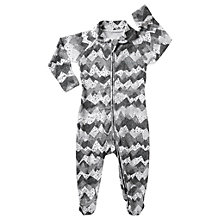 Buy Bonds Baby Spot On Mountain Zip Sleepsuit, Grey/White Online at johnlewis.com