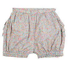 Buy Wheat Baby Floral Print Ruffle Shorts,  Blue/Multi Online at johnlewis.com