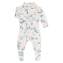 Buy Bonds Baby Brush Floral Zip Wondersuit Sleepsuit, Pink/Multi Online at johnlewis.com