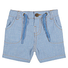Buy John Lewis Baby Ticking Stripe Shorts, Blue/White Online at johnlewis.com