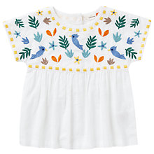 Buy John Lewis Baby Cuba Embroidered Top, White Online at johnlewis.com