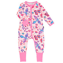 Buy Bonds Baby Zip Wondersuit Koyoto Sleepsuit, Pink/Multi Online at johnlewis.com