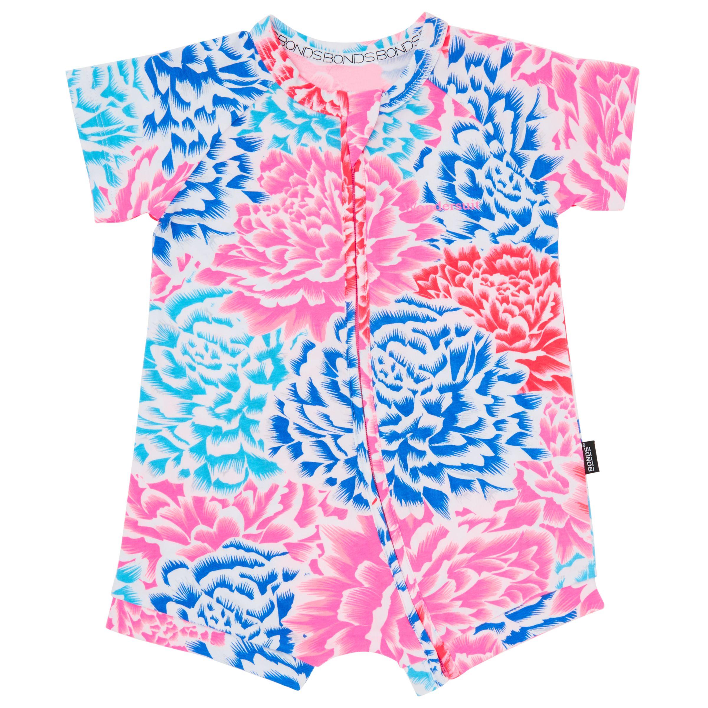 680d9dcd82 Bonds Baby Zip Wondersuit Tokyo Romper, Pink/Multi at John Lewis ...