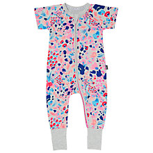 Buy Bonds Baby Zip Wondersuit Kimono Floral Sleepsuit, Grey Marl Online at johnlewis.com