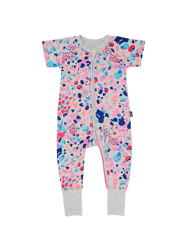 Buy Bonds Baby Zip Wondersuit Kimono Floral Sleepsuit, Grey Marl, 0-3 months Online at johnlewis.com