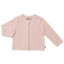 Buy Wheat Baby Knitted Betty Cardigan, Pink Online at johnlewis.com