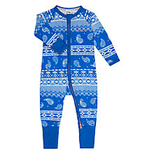 Buy Bonds Baby Paisley Print Zip Wondersuit Sleepsuit, Blue/White Online at johnlewis.com