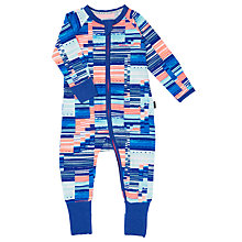 Buy Bonds Baby Zip Wondersuit Digi Tribe Sleepsuit, Blue/Orange Online at johnlewis.com