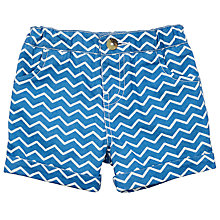 Buy John Lewis Baby Cuba Geo Stripe Shorts, Blue/White Online at johnlewis.com