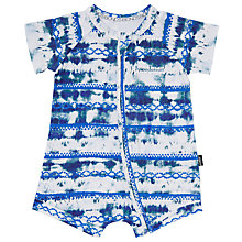 Buy Bonds Baby Zip Wondersuit Sandy Romper, Blue/White Online at johnlewis.com
