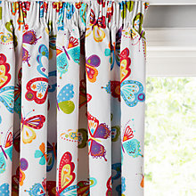 Buy little home at John Lewis Butterflies Pencil Pleat Blackout Lined Children's Curtains Online at johnlewis.com