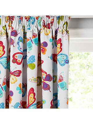 little home at John Lewis Butterflies Pencil Pleat Pair Blackout Lined Children's Curtains