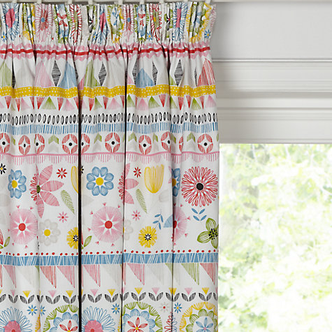 Buy little home at John Lewis Geo Pencil Pleat Blackout Lined Curtains  Online at johnlewis.