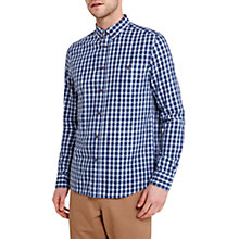 Buy HYMN Vaynor Check Shirt, Blue Online at johnlewis.com
