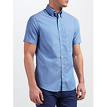 Buy Gant Washed Pinpoint Oxford Short Sleeve Shirt Online at johnlewis.com
