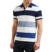 Buy Gant Oxford Multistripe Polo Shirt, Yale Blue Online at johnlewis.com
