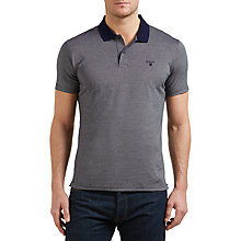 Buy Gant Jacquard Pattern Polo Shirt, Shadow Blue Online at johnlewis.com