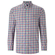 Buy Gant Madras Plaid Regular Fit Shirt, Blue Multi Online at johnlewis.com