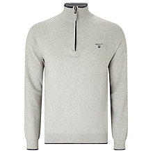 Buy Gant Pima Cotton Half Zip Jumper Online at johnlewis.com