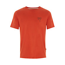 Buy HYMN Climbing Palm Tree T-Shirt, Orange Online at johnlewis.com